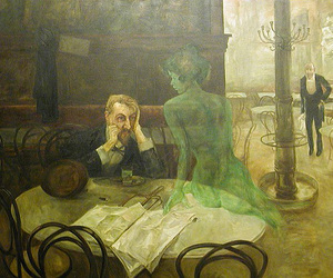 art, absinthe, and painting image
