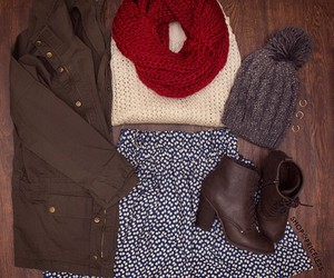 beanie, booties, and fashion image