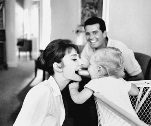 audrey hepburn, family, and baby image