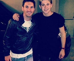 niall horan, messi, and one direction image