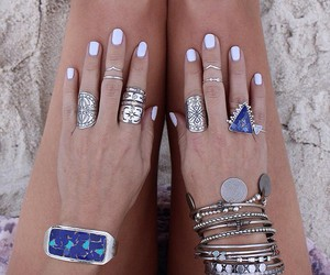 nails, rings, and bracelet image