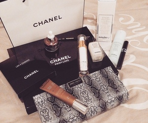 black, makeup, and chanel image