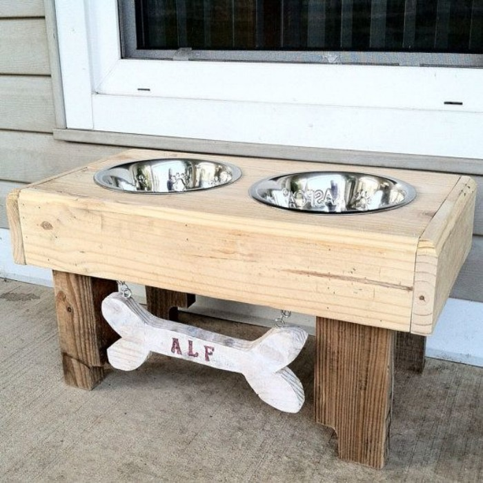 pallets dog bowls, pallets dog bowl, and pallets dog bowl stand image