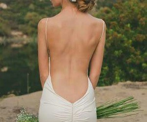 backless, white, and beautiful image