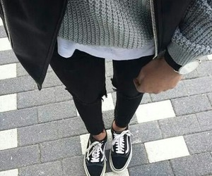 fashion, vans, and outfit image
