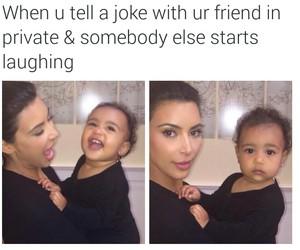 funny, kim kardashian, and north west image