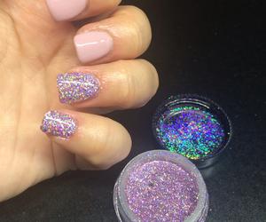 gel, glitter, and gel polish image