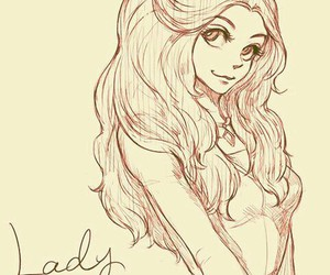 disney, lady, and drawing image