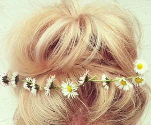 blond, flores, and flowers image