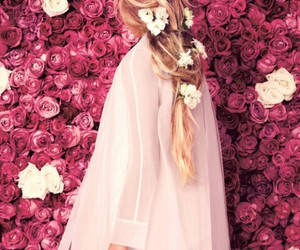 blond, flowers, and love image