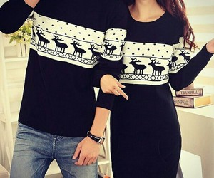 black n white, sweater, and fashion image