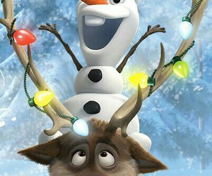 frozen, christmas, and olaf image