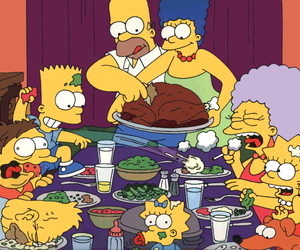 simpsons, family, and food image