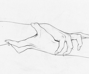 arm, black and white, and pencil image