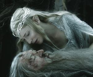 gandalf, galadriel, and the hobbit image