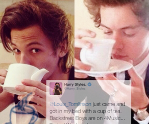 cup of tea, tea, and Harry Styles image