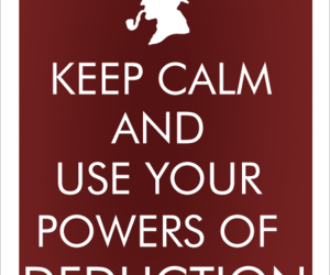 sherlock holmes, deduction, and keep calm image