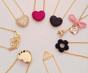 necklace, heart, and accessories image