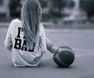 Basketball and girl image