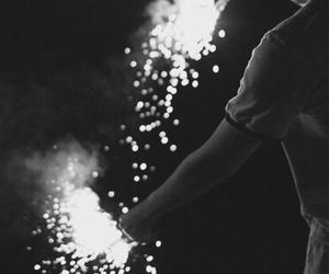 fireworks, light, and boy image