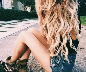 blonde, hair, and wavy image