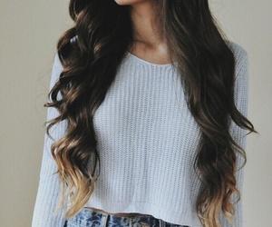 brown, hair, and wavy image