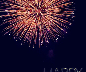 fireworks, happy, and newyear image