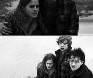 harry potter, friends, and love image