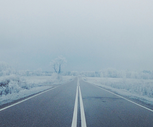 alone, fog, and frost image