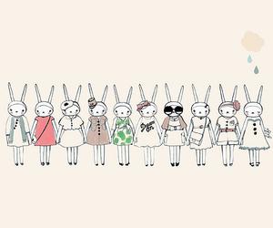 cute, fashion, and bunny image