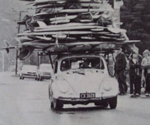 surf, car, and black and white image