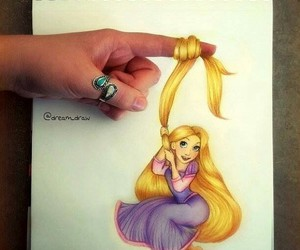 art, disney, and drawing image