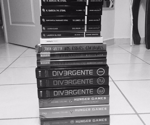 books, divergent, and thehungergames image