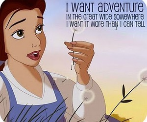 adventure, beauty and the beast, and belle image