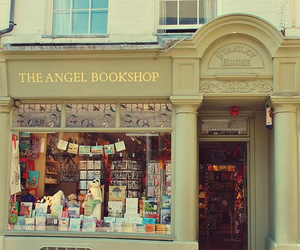 book, angel, and bookshop image