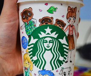 animal crossing, coffe, and starbucks image