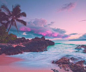 beach, beautiful, and sunset image