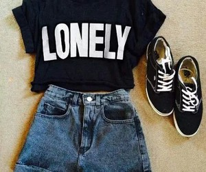fashion, lonely, and black image