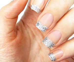glitter, nails, and party image