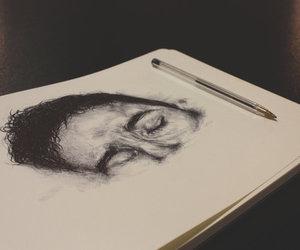 art, boy, and write image
