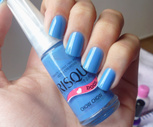 nails, risque, and blue image