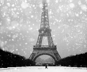 paris and snow image