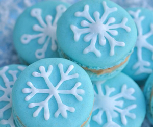 food, macaroons, and snowflake image