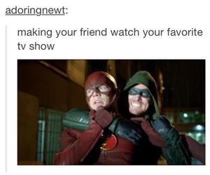 arrow, funny, and the flash image