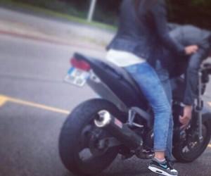 girl, moto, and thug image