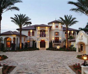 home, luxury, and palm tree image