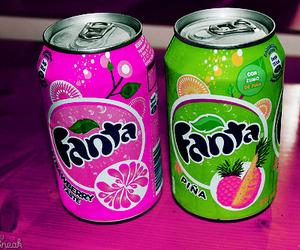 fanta, pink, and drink image