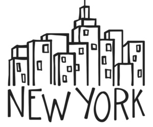 art, black and white, and new york image