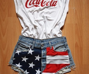 fashion, coca cola, and shorts image