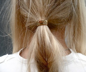 hair, blonde, and gold image